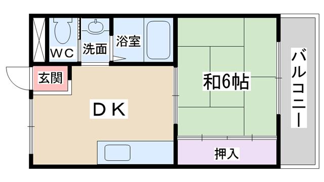 物件番号: 1068102131 メゾンアンユイ 大阪市淀川区十八条2丁目 1DK マンション 間取り図