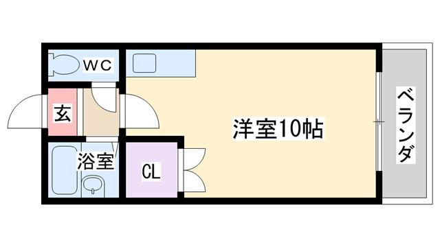 物件番号: 1068116812 マインドⅠ  大阪市東淀川区淡路1丁目 1K マンション 間取り図