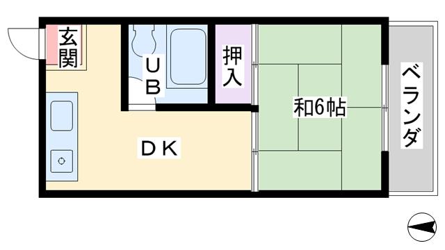 物件番号: 1068119742 エクセレンスハイツ 大阪市淀川区東三国5丁目 1DK マンション 間取り図