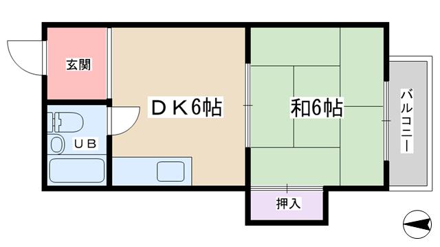 物件番号: 1068119782 メゾンアンシャンブル 大阪市淀川区木川西2丁目 1DK マンション 間取り図