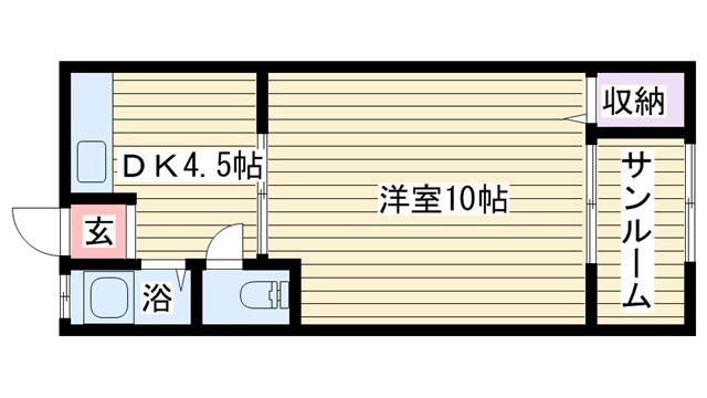 物件番号: 1068122207 竹内マンション  大阪市淀川区十三東1丁目 1DK マンション 間取り図