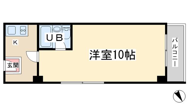 物件番号: 1068133108 フルーレ新大阪 大阪市淀川区西中島4丁目 1R マンション 間取り図