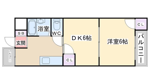 物件番号: 1068133742 ホワイトハイツ十三東 大阪市淀川区十三東3丁目 1DK マンション 間取り図
