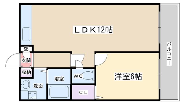 物件番号: 1068134270 ロイヤルハイツ 大阪市淀川区西宮原2丁目 1LDK マンション 間取り図