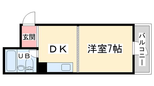 物件番号: 1068134782 マンション西 大阪市東淀川区小松1丁目 1DK マンション 間取り図