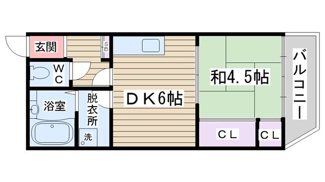 物件番号: 1068135751 ダイコーマンション 大阪市淀川区三津屋中2丁目 1DK マンション 間取り図