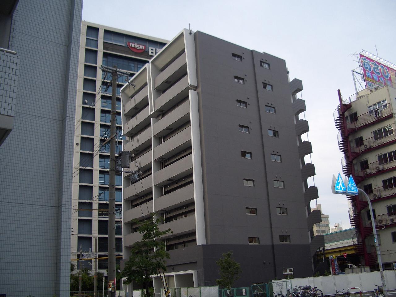 物件番号: 1068103344 新大阪南グランドマンション  大阪市淀川区西中島2丁目 1K マンション 外観画像