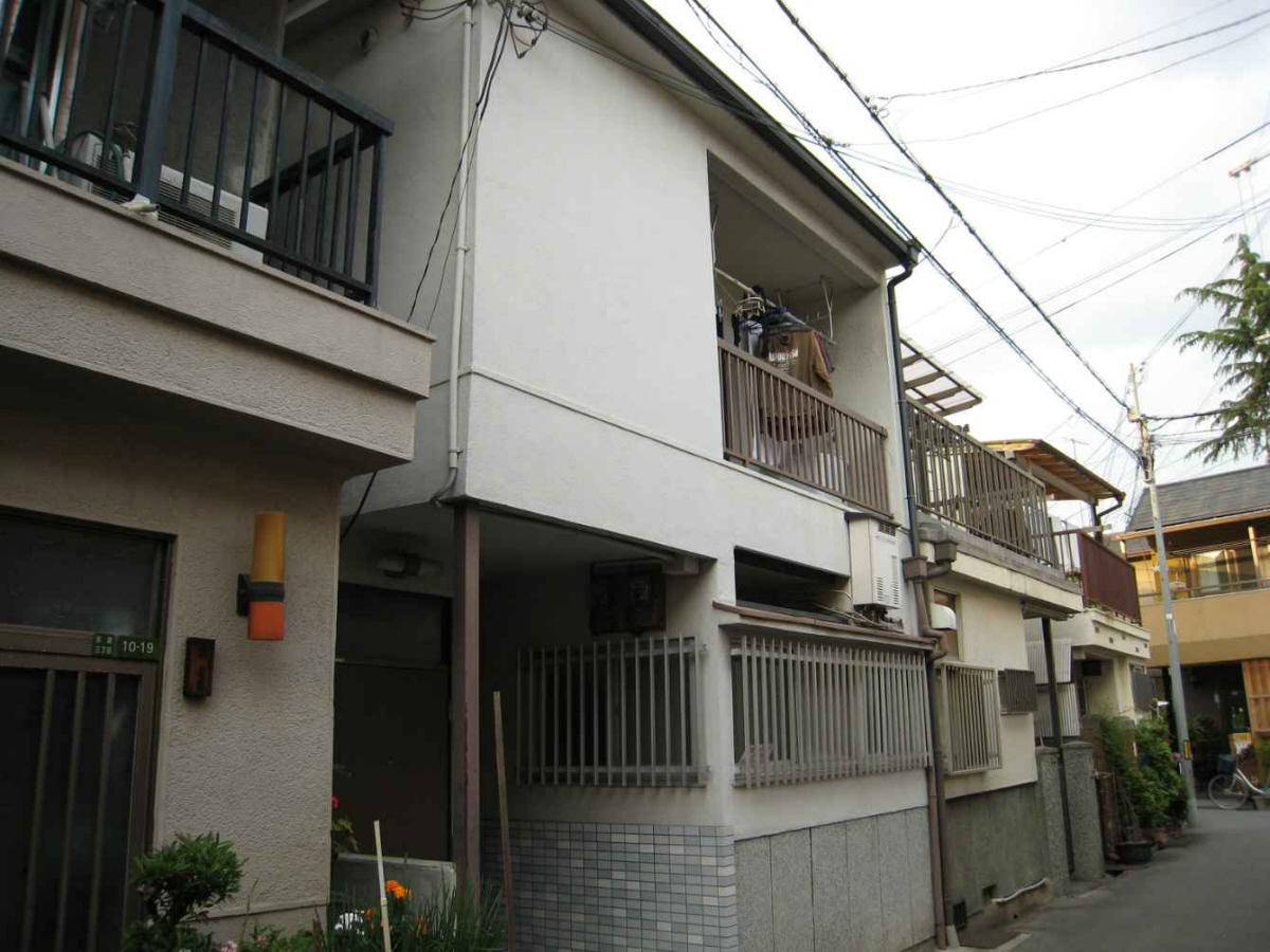 物件番号: 1068135240 ローズハイムⅤ 大阪市東淀川区淡路3丁目 1LDK アパート 外観写真